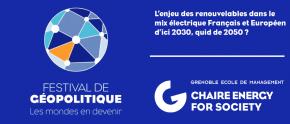 Retour sur la conférence : L'enjeu des renouvelables dans le mix électrique français et européen d'ici 2030, quid de 2050 ?